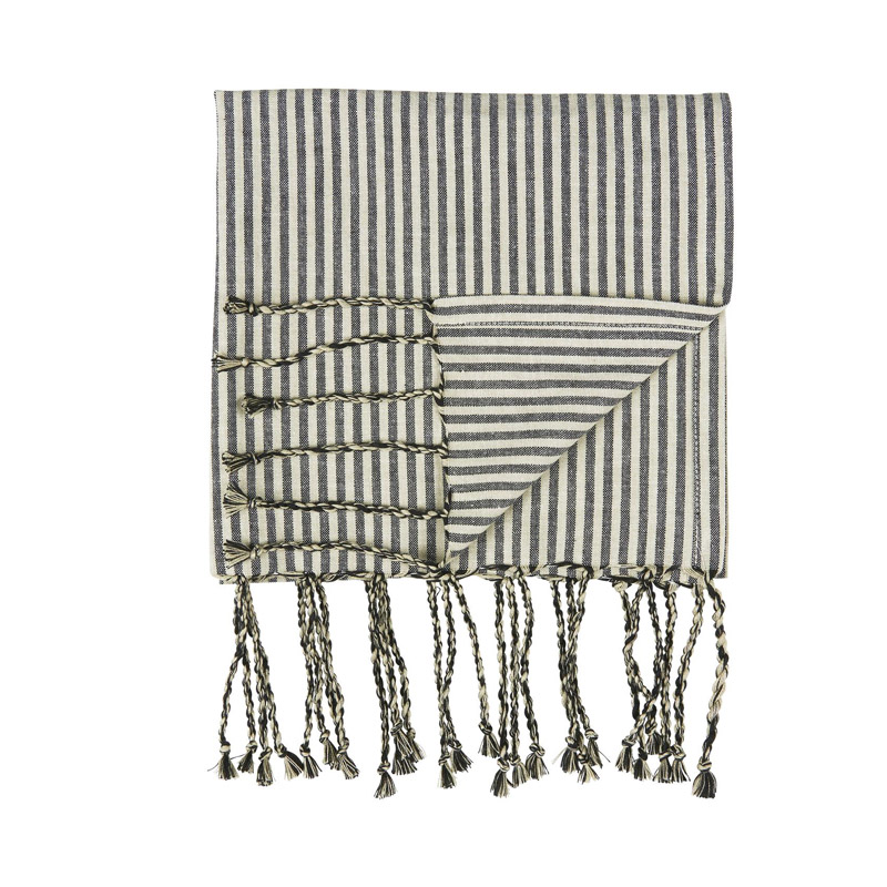 STRIPED HAMMAM TOWEL WITH FRINGE