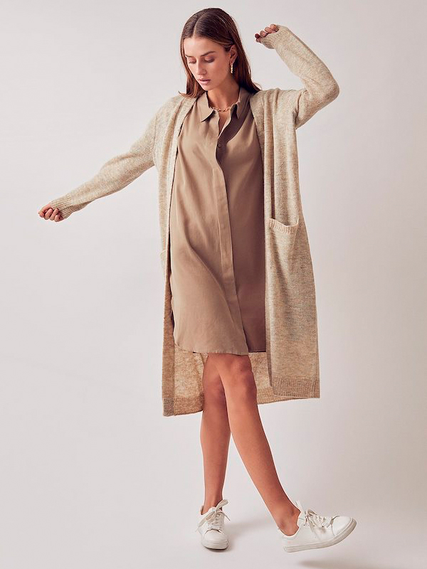 LOUNGE NINE TUNIC SHIRT DRESS BEECH
