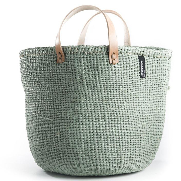 MIFUKO LIGHT GREEN TOTE BAG M