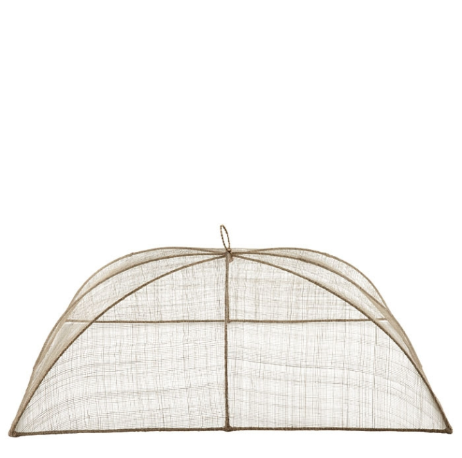 MAXI LINEN FOOD COVER IN ABACA NET