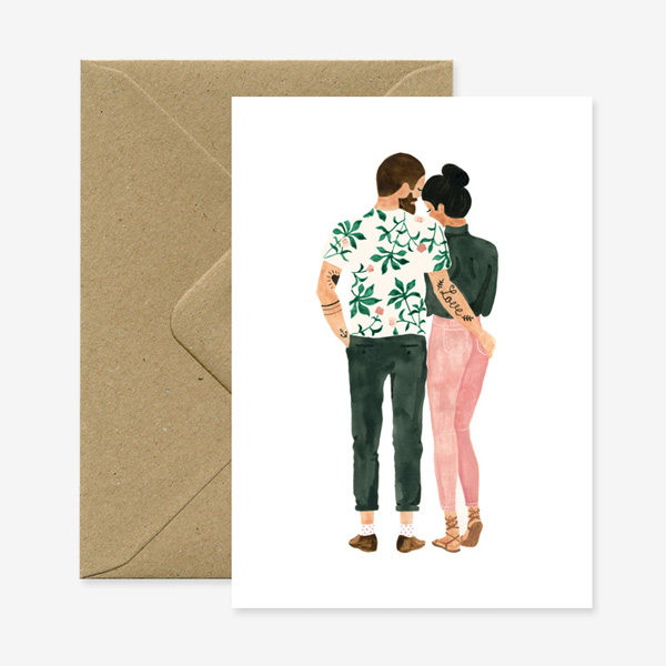 LOVING HIPSTERS GREETING CARD
