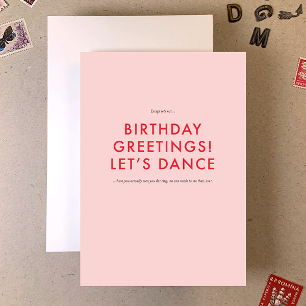 BIRTHDAY GREETINGS RUDE SMALL PRINT GREETINGS CARD