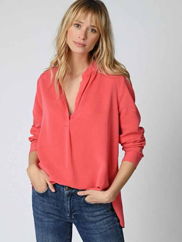 FIVE BOUNTY LYOCELL BLOUSE GERANIUM