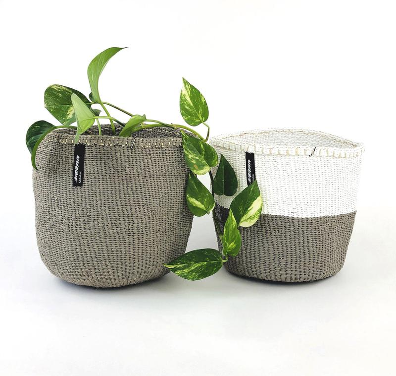 MIFUKO WARM GREY BASKET TWO SIZES