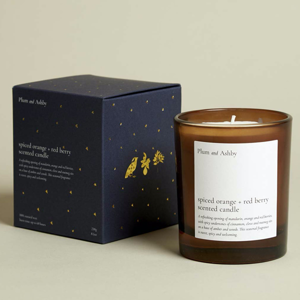 SPICED ORANGE & RED. BERRY CANDLE
