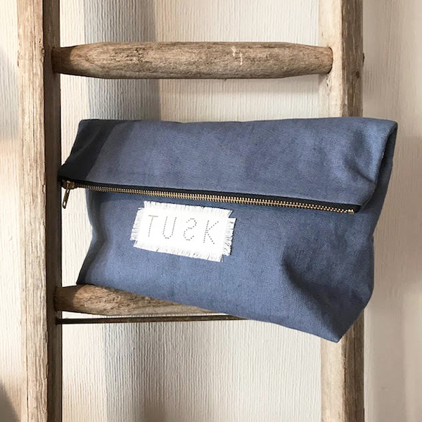 DARK HAZE CLUTCH BAG LINEN/COTTON