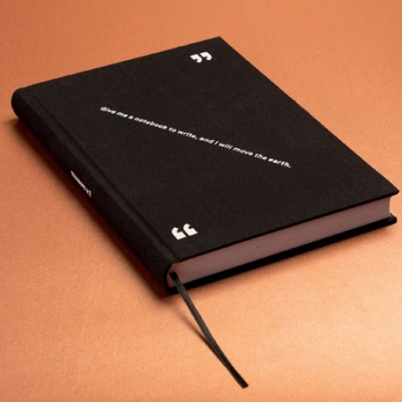 HAPPILY EVER PAPER NOTEBOOK BLACK