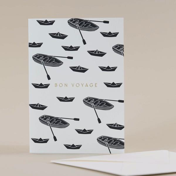 BON VOYAGE BOAT GREETINGS CARD