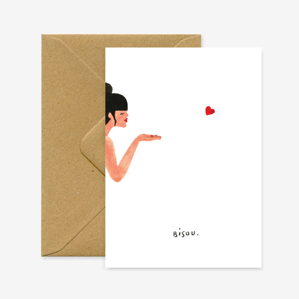 BISOU KISSES GREETINGS CARD