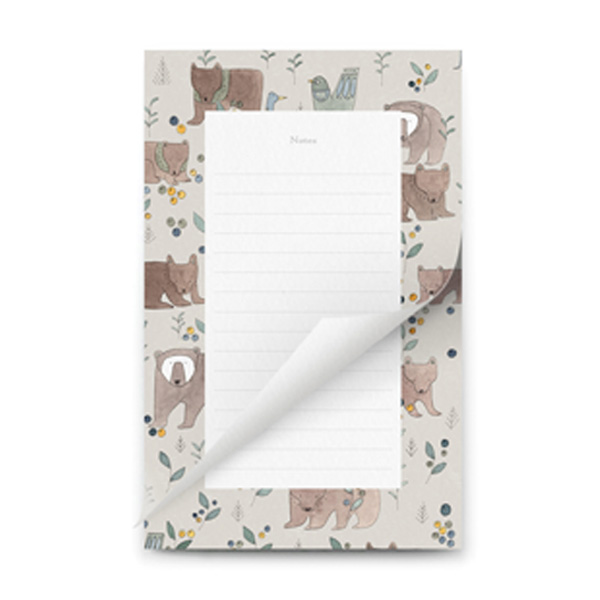 TO DO LIST NOTEPAD BEAR DESIGN