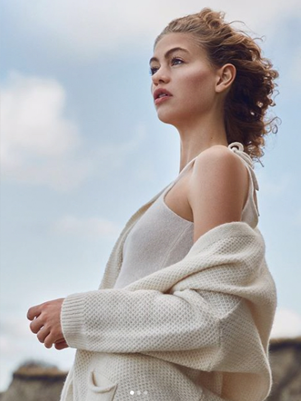 GAI + LISVA CHARLOTTE CARDIGAN OFF WHITE {was £125}