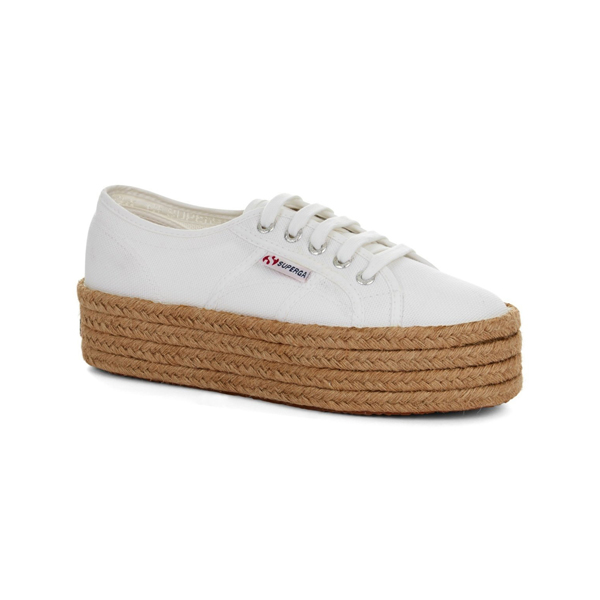 SUPERGA COTROPE WHITE FLATFORM {was £65}S 279