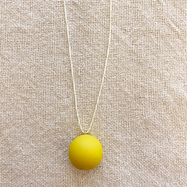 COCOA & GOLD SINGLE BALL NECKLACE YELLOW