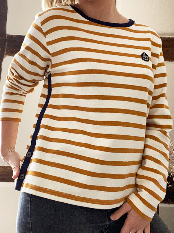 MAT DE MISAINE MYRA STRIPED JUMPER TOP