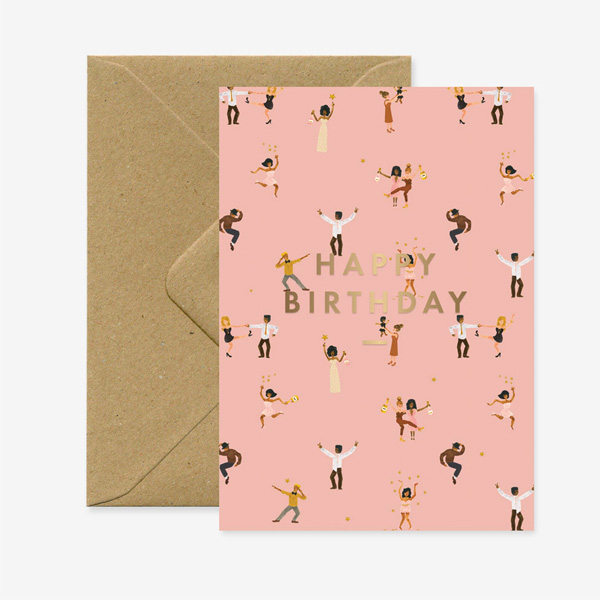 DANCERS HAPPY BIRTHDAY GREETINGS CARD