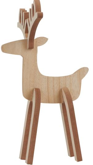 WOODEN REINDEER DECORATION TWO SIZES AVAILABLE