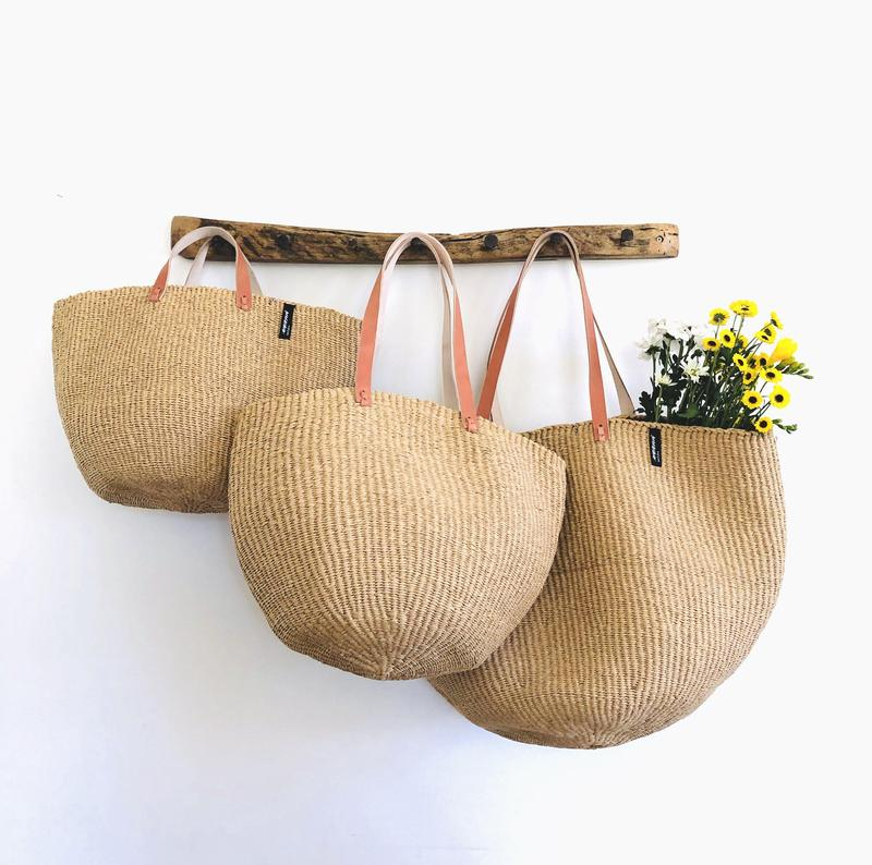 MIFUKO BROWN NATURAL TOTE BAG M