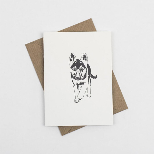 SMALL ALSATIAN NOTE CARD