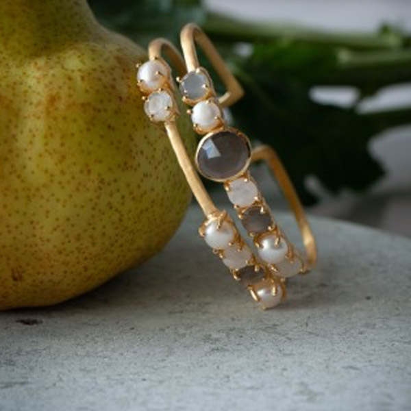 ARNO BRACELET GOLD WITH GEMSTONES