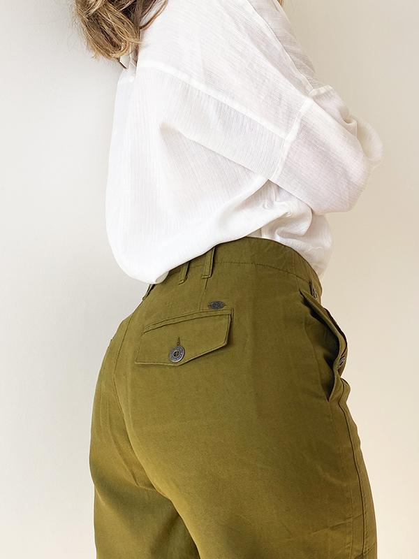 MAT DE MISAINE SHOBLA BAMBOU GREEN BUTTON SHORTS