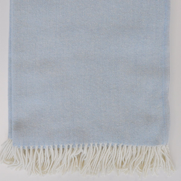 CLASSIC PALE BLUE THROW 7-40