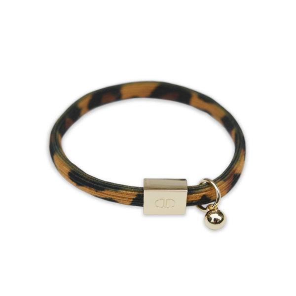 TURTLE PRINT ELASTIC BRACELET WITH GOLD