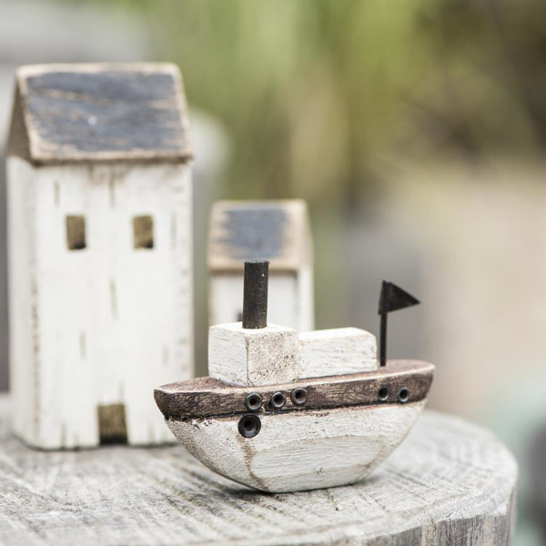 LITTLE WOODEN SHIP DECORATION