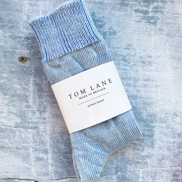 TOM LANE EVERYDAY ALPACA SOCKS SKY BLUE