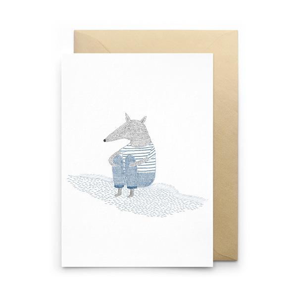 CREATURE COMFORT GREETINGS CARD