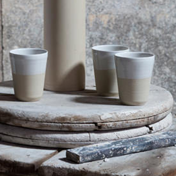 MANUFACTURE DE DIGOIN DIPPED CUP TWO COLOURS
