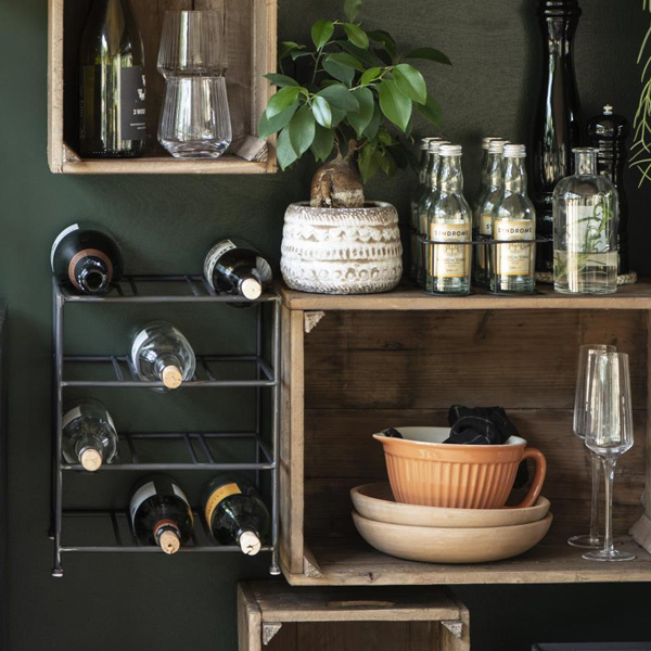 METAL WINE RACK FOR 9 BOTTLES