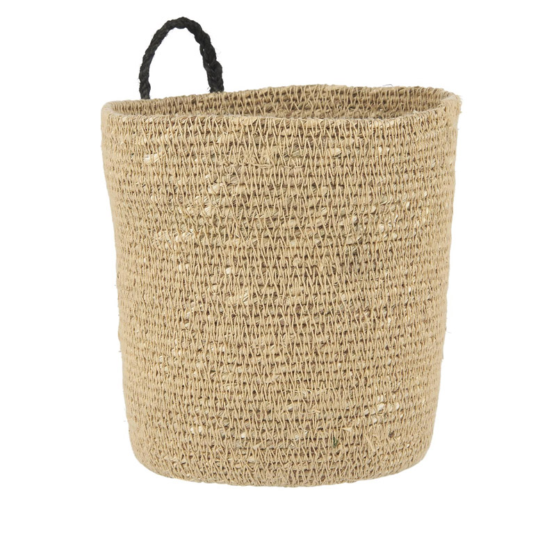 SEAGRASS WOVEN BASKET WITH HANDLES
