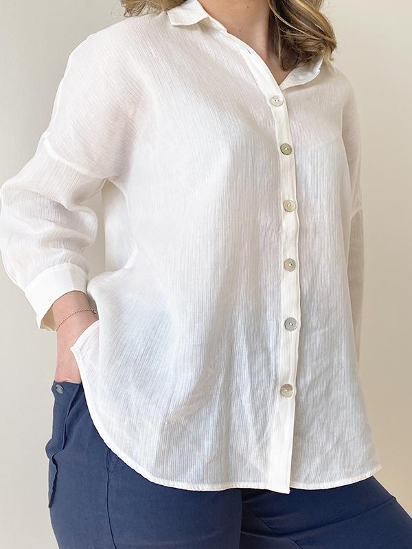 MAT DE MISAINE CLARA SHIRT CALCAIRE CREAM