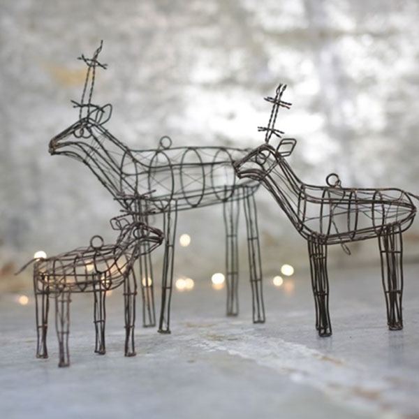 WIRE REINDEER DECORATION SMALL