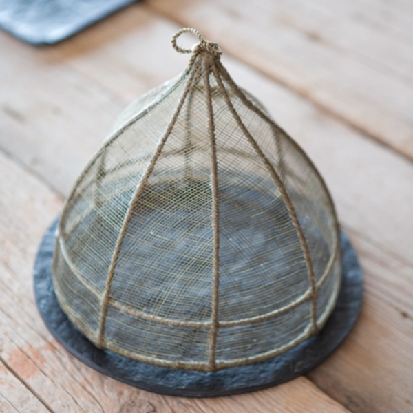 NATURAL LINEN FOOD COVER DOME