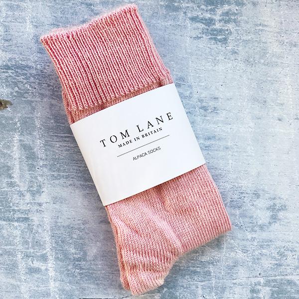 TOM LANE EVERYDAY ALPACA SOCKS PINK