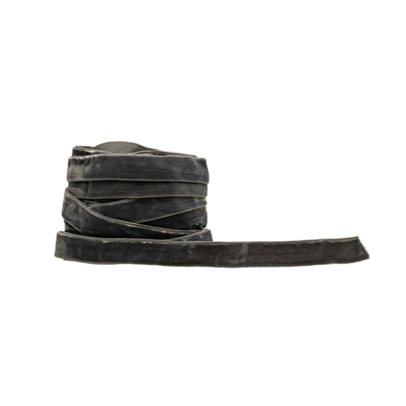 CHARCOAL VELVET RIBBON THICK