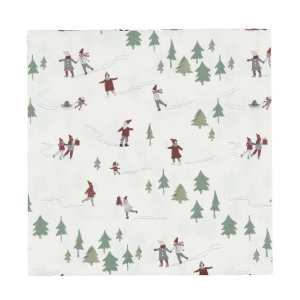 CHRISTMAS PAPER NAPKINS SQUARE