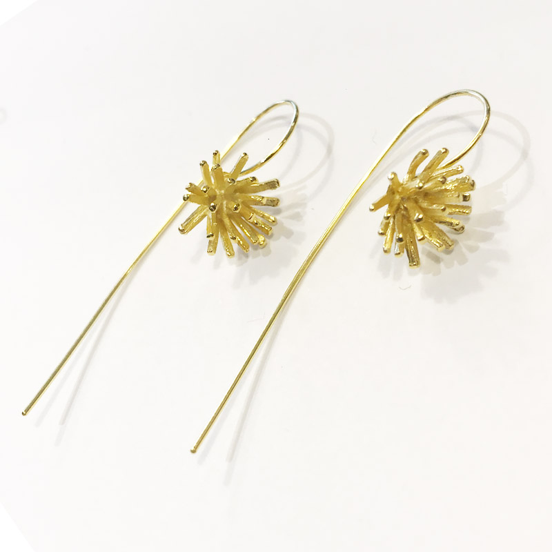 GOLD DROP EARRINGS DT96 G