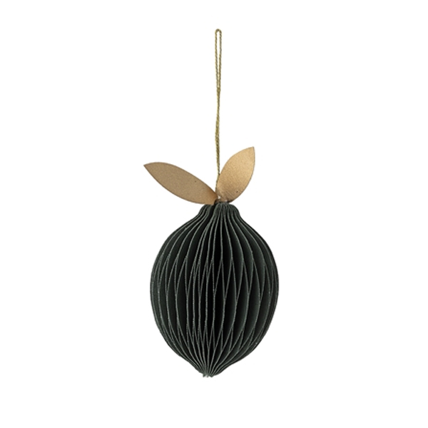 PAPER PEAR CHRISTMAS DECORATION