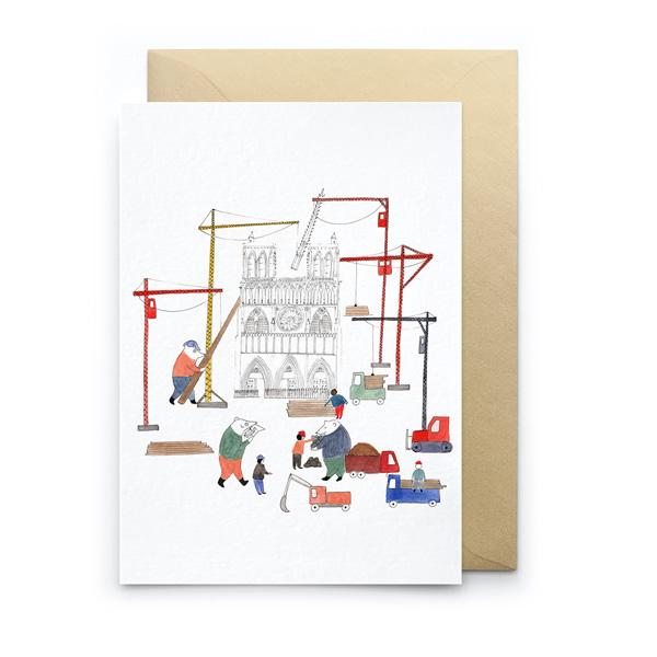 BEAR CONSTRUCTION GREETINGS CARD