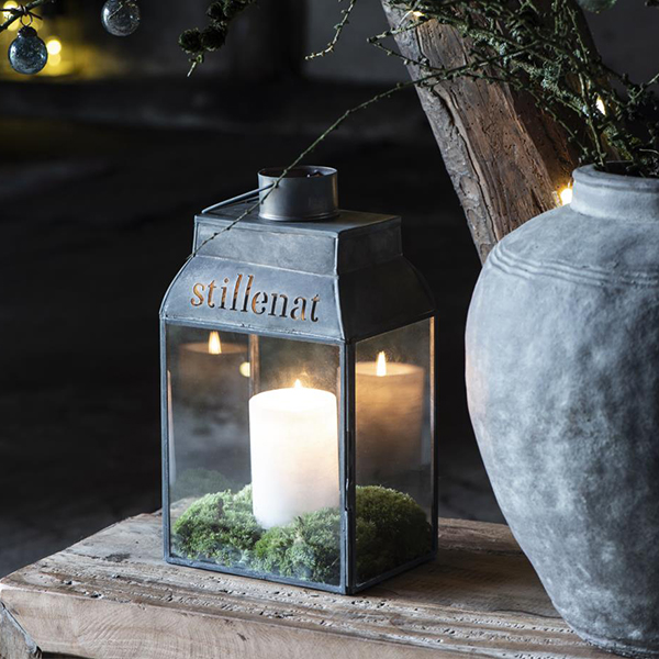 METAL AND GLASS STILLENAT LANTERN