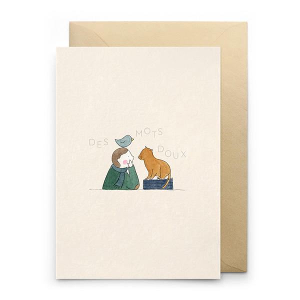 DES MOTS DOUX SWEET WORDS GREETINGS CARD