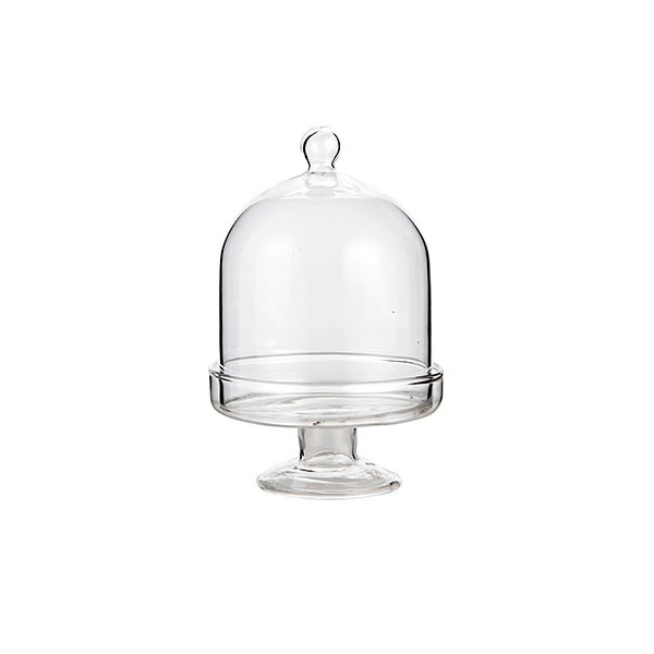 SMALL GLASS DOME CAKE STAND