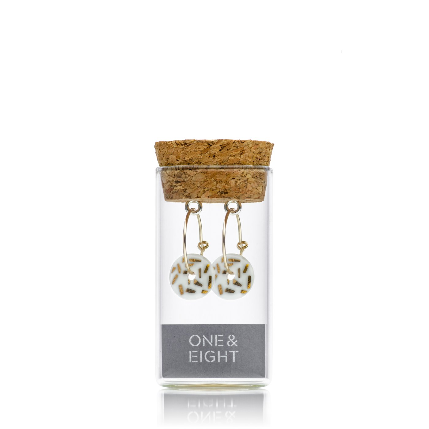1951 DASH EARRINGS PORCELAIN AND GOLD