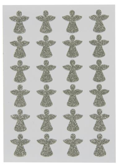 SILVER ANGEL STICKERS SHEET OF 24