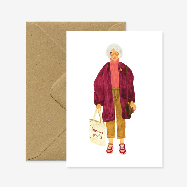 FOREVER YOUNG GREETINGS CARD