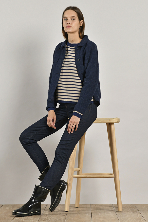 MAT DE MISAINE VERSAILLE WOOL JACKET NAVY {was £175}