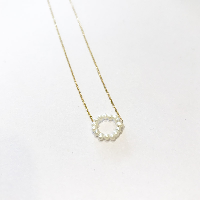 PEARL CIRCLE NECKLACE OR BRACELET