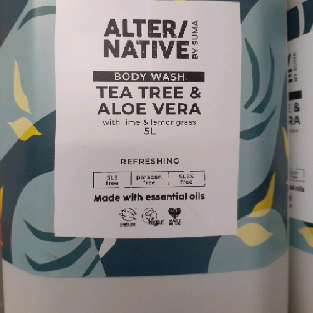 Body Wash / Shower Gel - Aloe Vera and tea tree per 100g